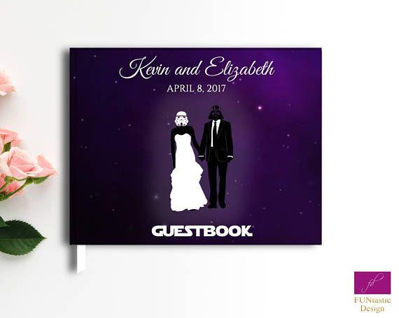 Star Wars Wedding Guest Book, Geek wedding guest book,Hard Cover Star Wars funny wedding guestbook, Star Wars wedding accessories guest book
