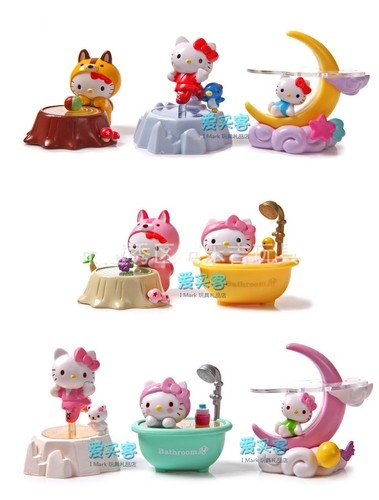 Set of 8pcs Hello Kitty Bathroom Moon Doll Small lovely Figures   eBay