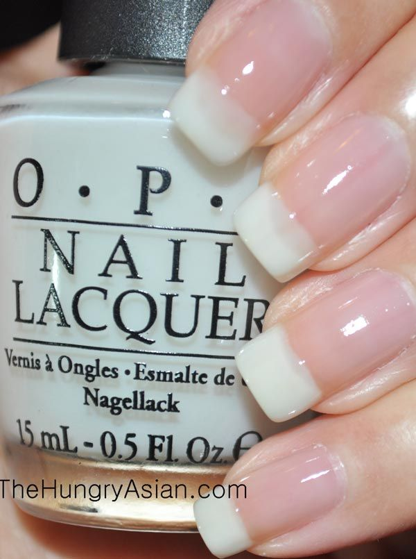 don't touch my tutu: milky white for American Manicure tips. Helpful review for this OPI line!