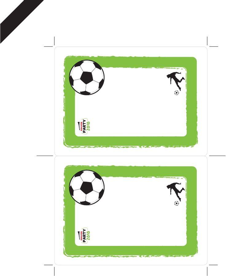 Para imprimir fiesta tema futbol