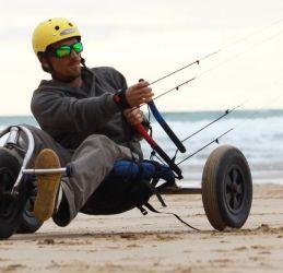 Kite buggying