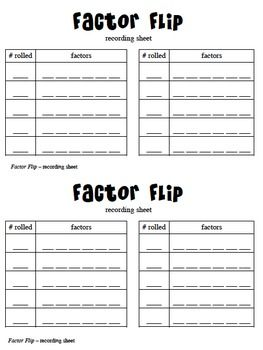 "This fast-paced game is a great way to for kids to explore with the concept of factors, allowing you to address the Common Core Math Standards within the Grade 4 cluster ""Gain familiarity with factors and multiples."" Students will quickly discover the difference between prime and composite numbers, as well as realize the fact that 1 is a factor of every number. This two-player game will require two-sided color tokens and a paper clip to use as a spinner. Resources include a recording sheet…"