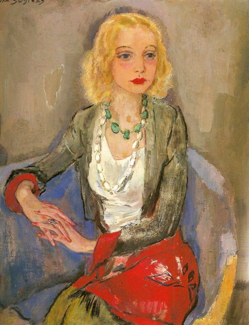 Portrait of Karin Leyden (1931) by Jan Sluijters  thank youblueruins