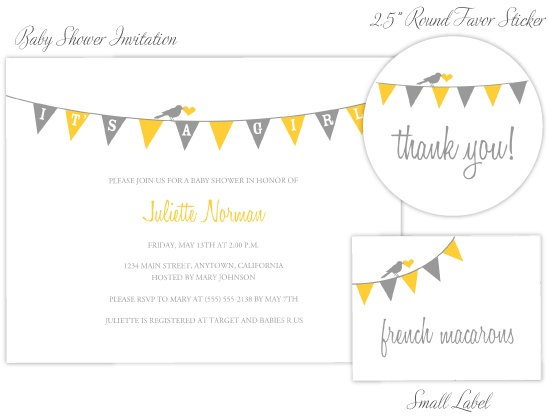 Free baby shower invite printable from on to baby...can customize in any color