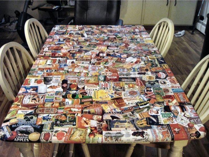 Oltre 25 fantastiche idee su decoupage tavolo su pinterest - Decoupage mobili legno ...