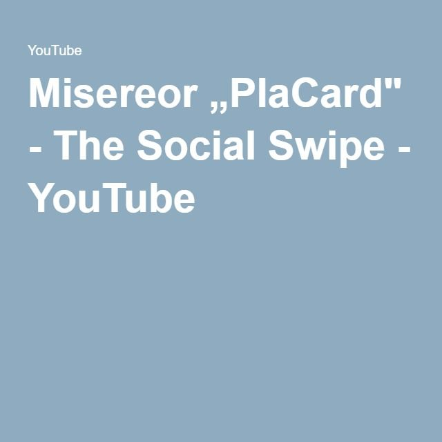 "Misereor ""PlaCard"" - The Social Swipe - YouTube  THX Nader B!"