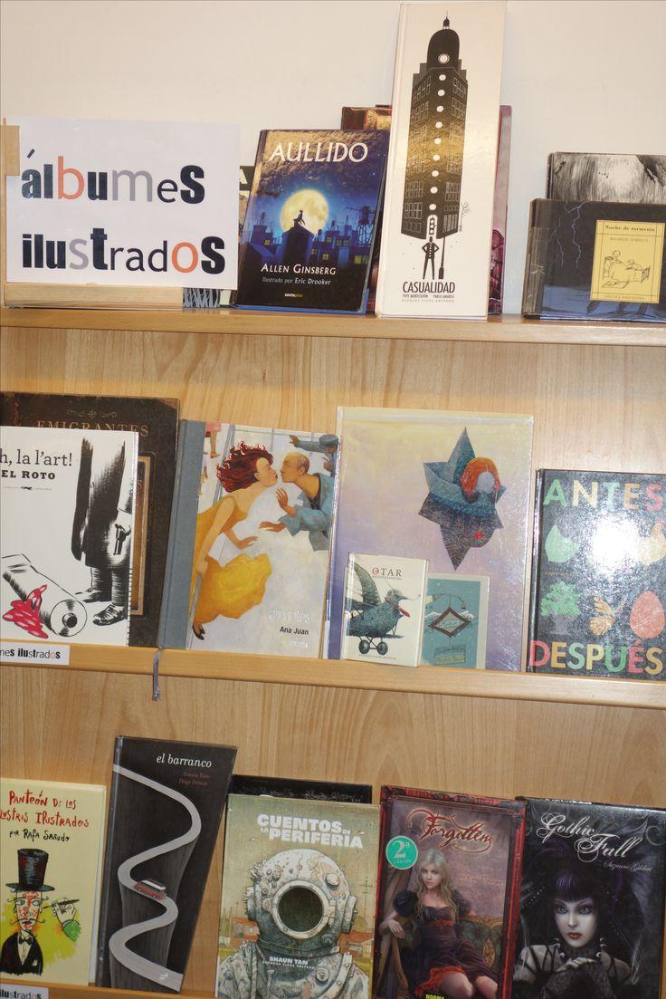 Este mes de julio os proponemos conocer la sección de Álbumes ilustrados, 1ª planta de la Biblioteca junto a la sección de Literatura Juvenil.
