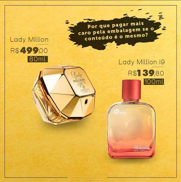 e8c63fe618 Descubra mais sobre Lady Million Paco Rabanne Eau de Parfum Lady Million é  um Perfume Paco