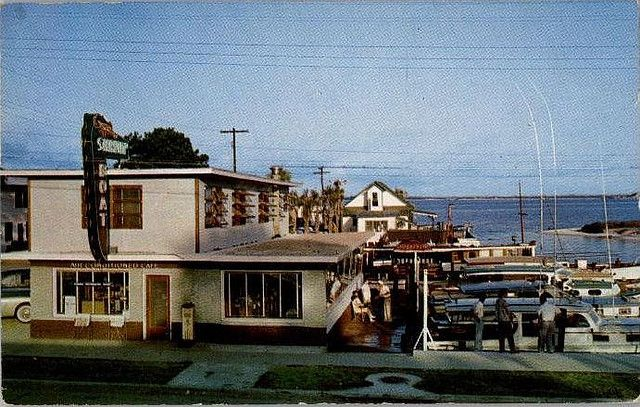 Shrimp Boat restaurant, Panama City Beach Florida, 1950's post card
