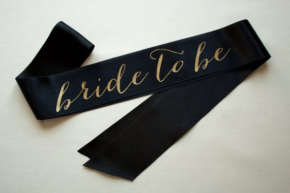 Velvet Bachelorette Sash Gold on Ivory... Bachelorette party sashes! Also have maid of honor and bridesmaid sashes.