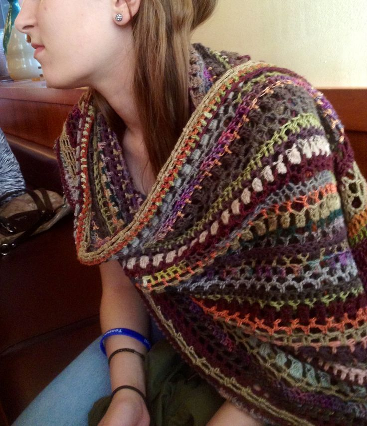 Stashbuster Shawl - this is the perfect project for my grandmother's vintage stash!  Love this!