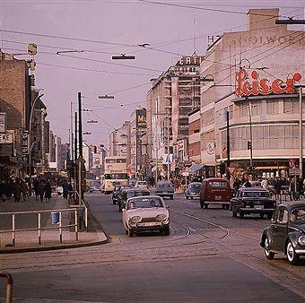 Berlin Wilmersdorfer Strasse Ecke Kantstrasse 1968