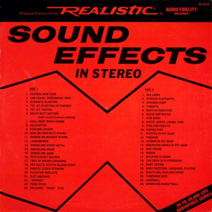 No Artist - Stereo Test Sound Effects / Stereo Demonstratie & Geluids Effecten
