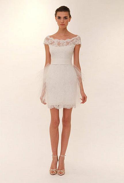 Short Marchesa Wedding Dress