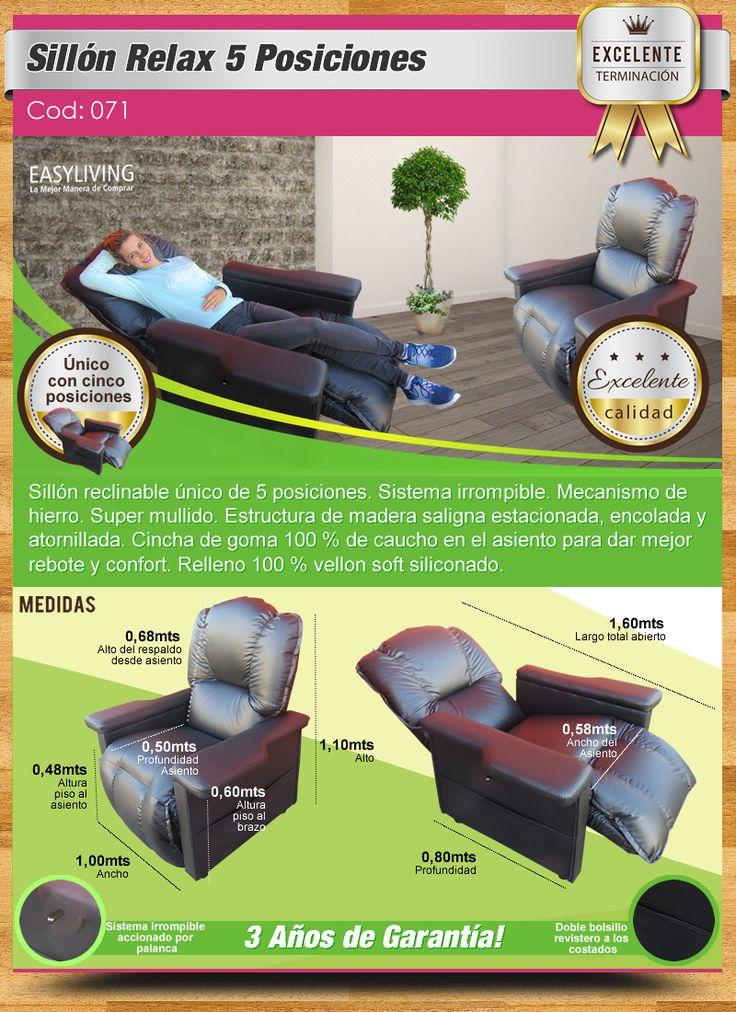 Sillon Reclinable 5 Posiciones Promocion Chenil O Talampaya - $ 8.500,00 en Mercado Libre