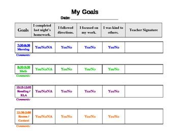 FREE Behavior Chart Template | School | Pinterest