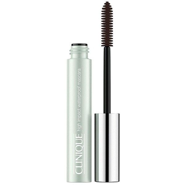 Clinique High Impact Waterproof Mascara (€16) ❤ liked on Polyvore featuring beauty products, makeup, eye makeup, mascara, black brown, clinique mascara, clinique and clinique eye makeup