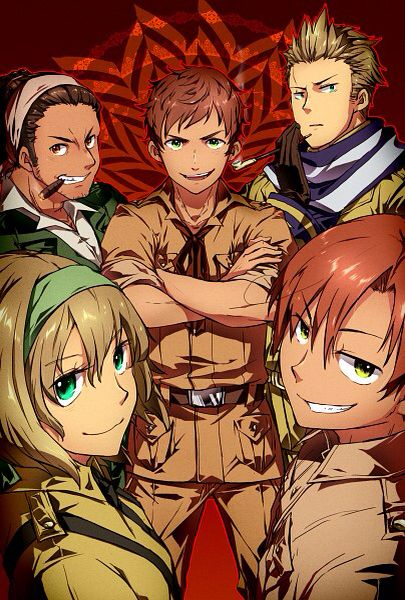 APH Tomato Gang. I love their expressions here (。>﹏<。)<<<< Spain looks.... Wow!