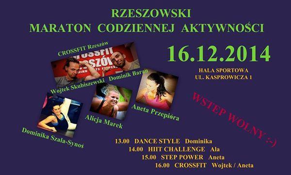 Rzeszowski Maraton Codziennej Aktywności (Rzeszów, 16.12.2014)
