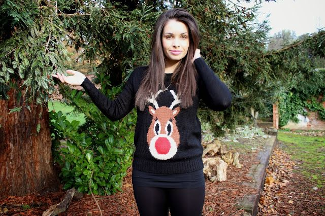 Styla Petite in our Black #Reindeer Light Up #Christmas Jumper! #newlook