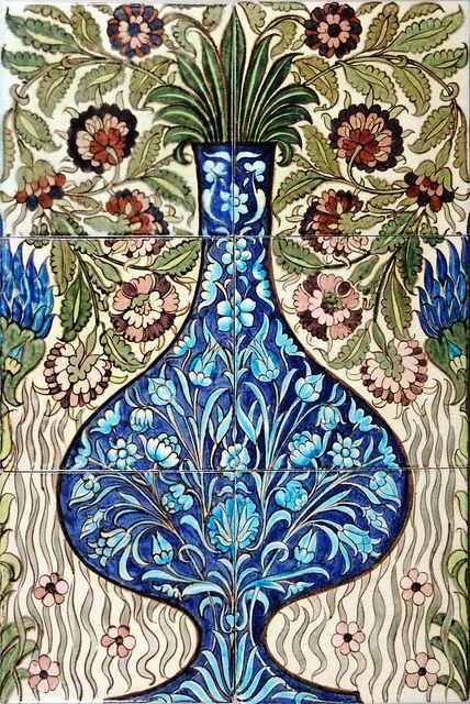 William De Morgan tile panel, via Flickr.