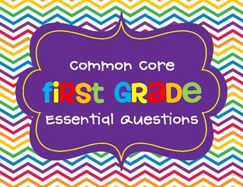 Essential questions highlight the usefulness and relevance of a standard/unit. They help students focus on the big picture of what you are working ...