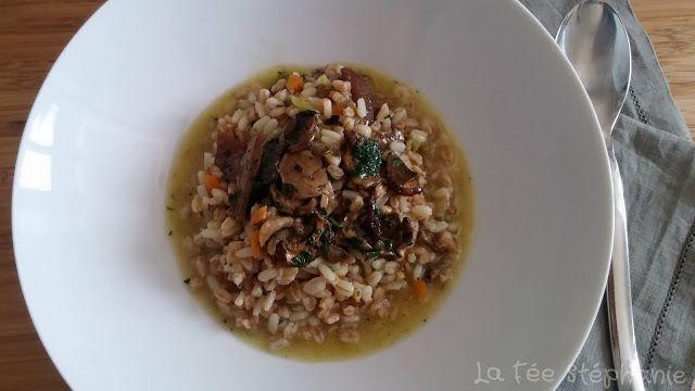 Zuppa d'orzo ai funghi porcini (soupe d'orge aux cèpes)
