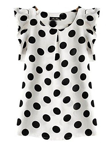 How cute is this polka dot top for work?
