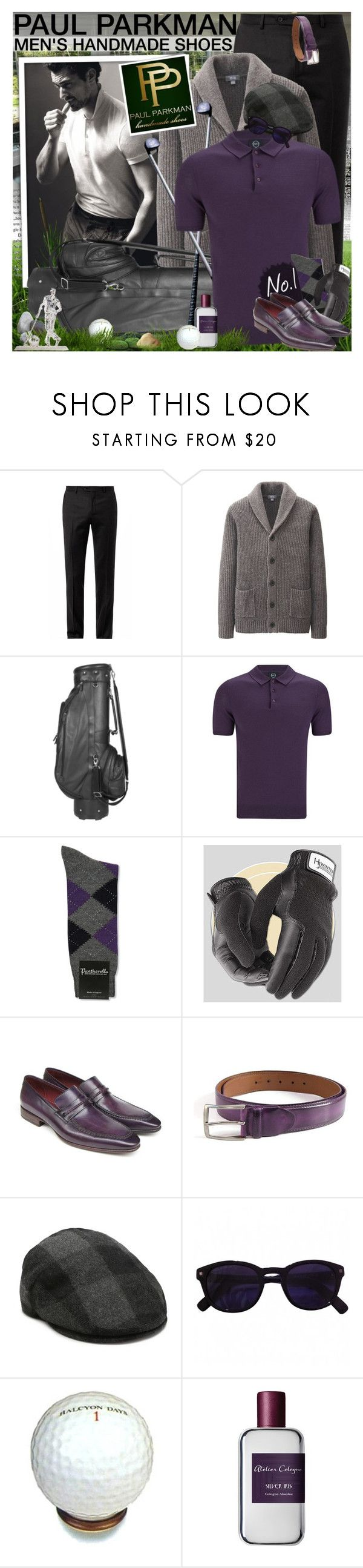 """The art of handmade shoes & belts - PAUL PARKMAN"" by vn1ta ❤ liked on Polyvore featuring Lanvin, Uniqlo, McQ by Alexander McQueen, Pantherella, Aston Grey, Dsquared2, Halcyon Days, Atelier Cologne and Yael & Tal"