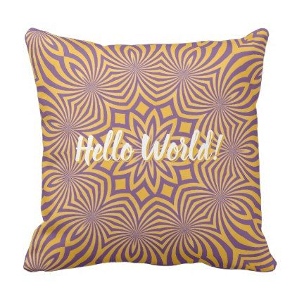 Yellow Mandala Throw Pillow - pattern sample design template diy cyo customize