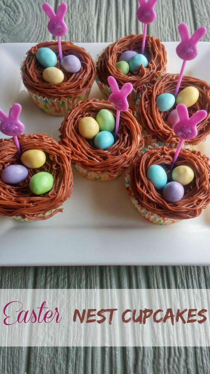 These Easter Nest Cupcakes are fun to make and will be the hit of your Easter Dessert Table