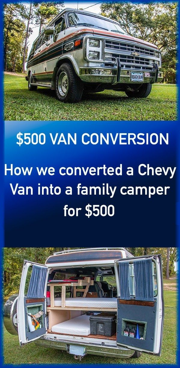 How We Converted A 1987 Chevy Van G20 Into A Camper For