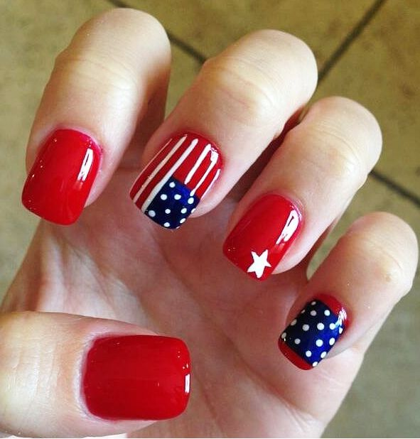 63 best gel manicure images on pinterest beautiful nail art and show off your patriotism with these red white and blue nail art designs perfect for the fourth of july prinsesfo Choice Image