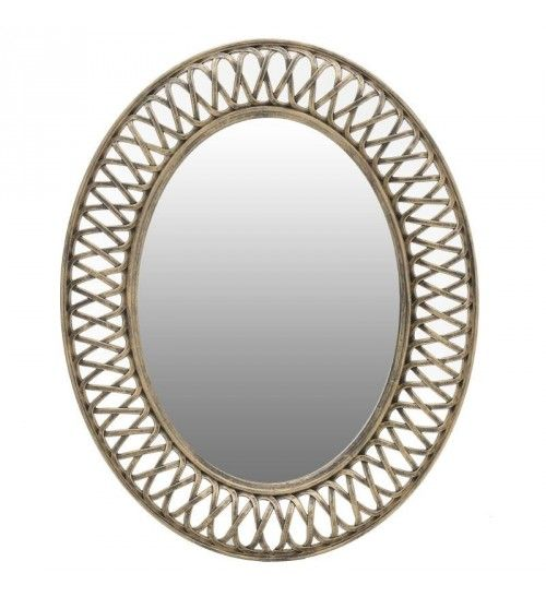 POLYRESIN WALL MIRROR IN GOLDEN COLOR 61X5X76