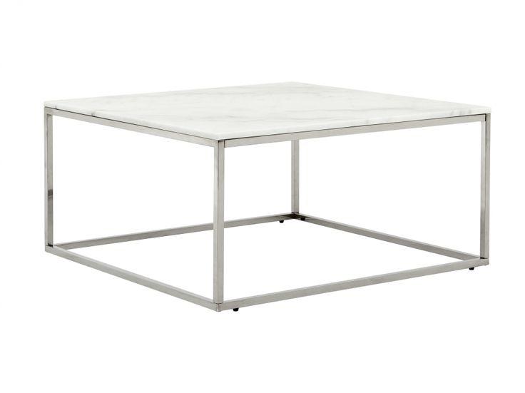 CARRIE Soffbord 90 Stål/Vit i gruppen Inomhus / Bord / Soffbord hos Furniturebox (100-78-94246)