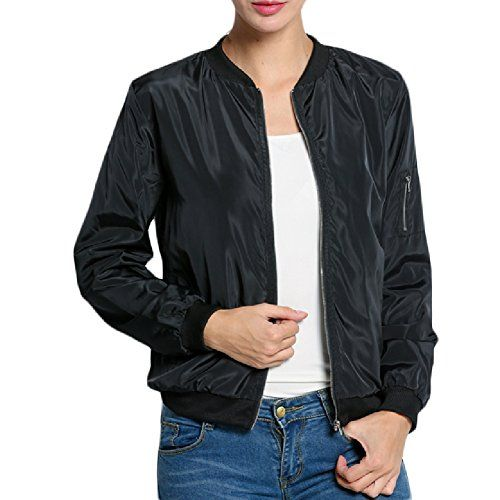New Trending Outerwear: Celltronic Ladies Short Outerwear Women Casual Long Sleeve Front Zipper Coat Bomber Jacket(Black,XXL). Special Offer: $19.99 amazon.com Size: Asian Size S/M/L/XL/XXL/XXXL(1cm=0.3937inch) (1inch=2.54cm) Asian Size S=US Size XS(4):(Shoulder 40cm/15.6″),(Sleeve 58cm/22.6″),(Chest 96cm/37.4″),(Length 59cm/23″) Asian Size M=US Size S(6):(Shoulder 41cm/16″),(Sleeve...