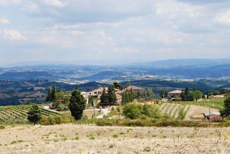 Near San Gimignano - Countryside near San Gimignano town - San Gimignano, Siena, Italy.