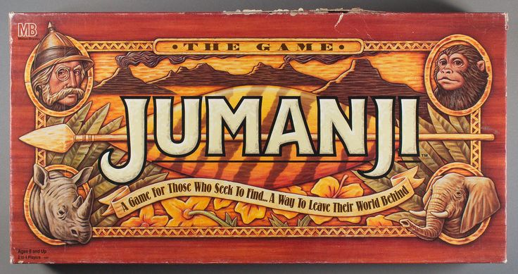 Jumanji Movie Board Game - Complete - Milton Bradley Robin Williams 1995 #MiltonBradley