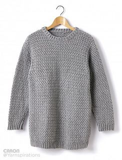 This Caron Simply Soft sweater will go with everything! Throw on this crocheted Crew Neck Pullover and you're good to go.
