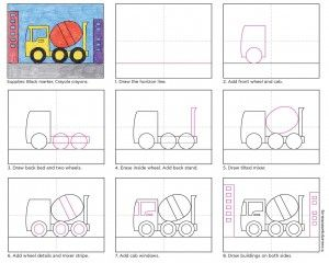 Draw a Cement Truck – Art Projects for Kids