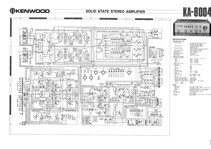 Kenwood Ka 8004 Sch Service Manual Download Schematics Eeprom Repair Info For Electronics Experts Kenwood Stereo Stereo Amplifier Kenwood