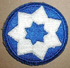 WW2 ERA SEVENTH SERVICE COMMAND INSIGNIA PATCH