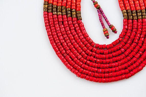 Ceramic jewellery from Colombia by KOKOworld on Etsy www.kokoworld.pl #kokoworld #handmade #beads #necklace #ethno #colombia