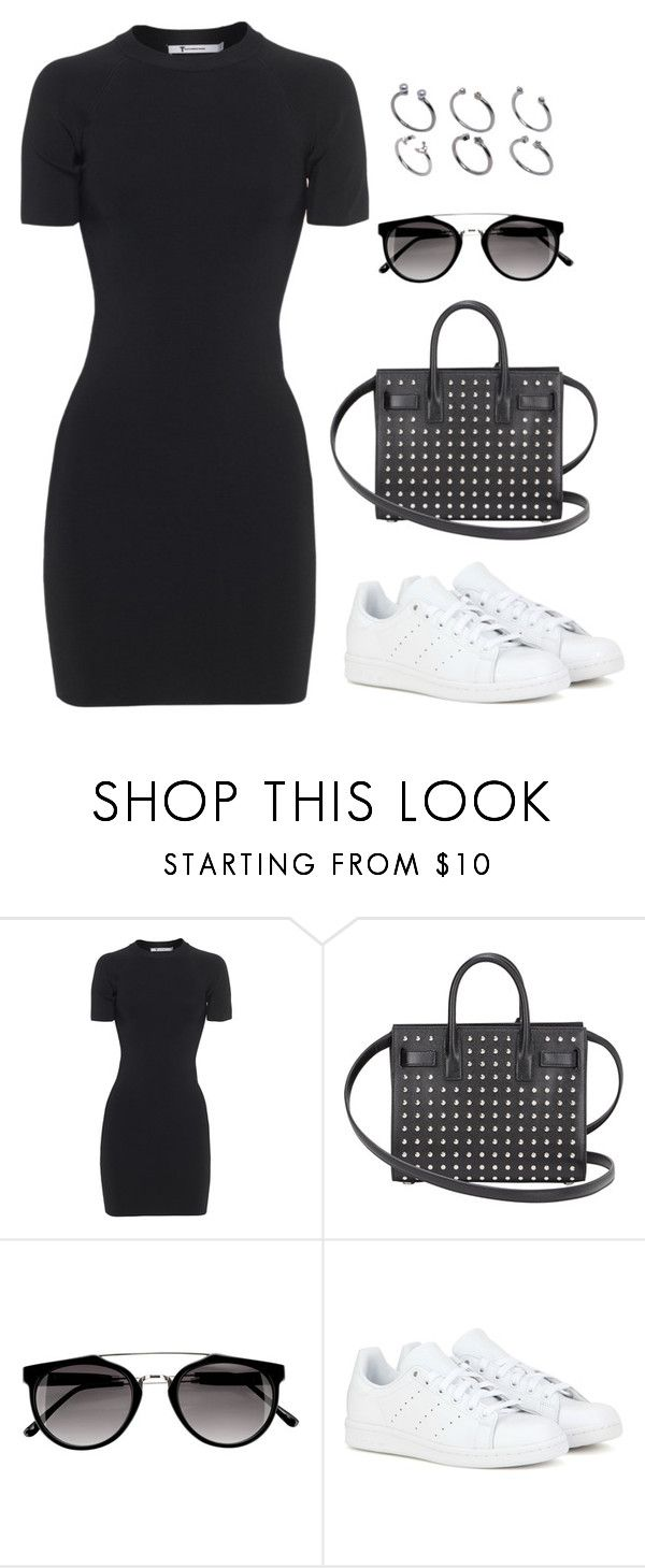 """""""Untitled #1594"""" by susannem ❤ liked on Polyvore featuring T By Alexander Wang, Yves Saint Laurent, adidas and ASOS"""