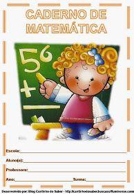 Capas de caderno de artes, caderno de português, matemática, história, ciências, geografia! Sendo que todas as capas coloridas foi muito bem...