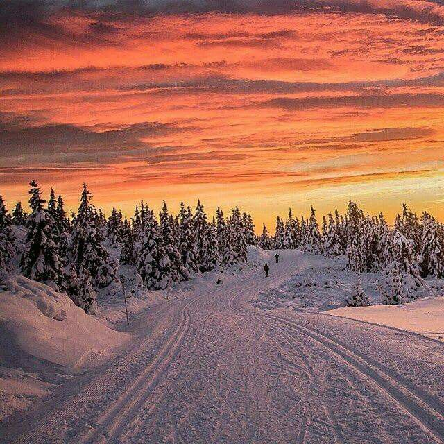 Winter Sunset Lillehammer, Norway
