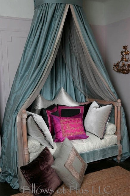 Couture pillows and drapes
