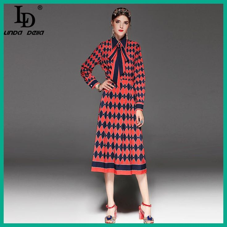 High Quality Runway Fashion Designer Two-Pieces Set Women's Long Sleeve Bow Collar Blouse + Printed Skirt Suit Sets