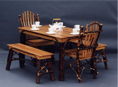 61 Best Hickory Log Furniture Images On Pinterest  Log Furniture Amusing Hickory Dining Room Sets Review
