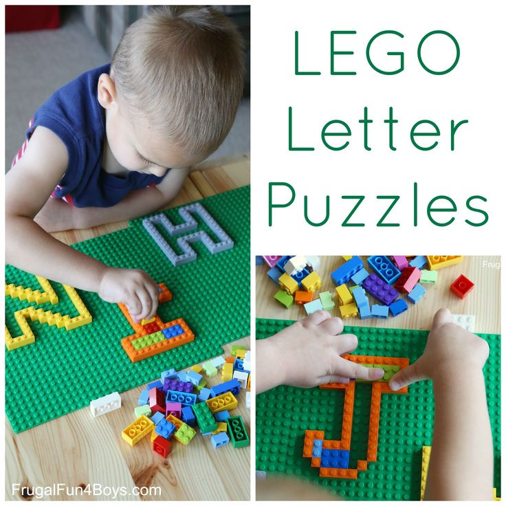 Learning with LEGO: Letter Puzzles